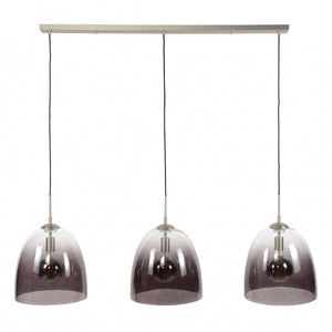 Hanglamp 3xØ33 shaded ovaal glas