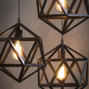 Hanglamp 3L triangle