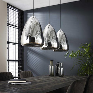 Hanglamp silver pearl glass