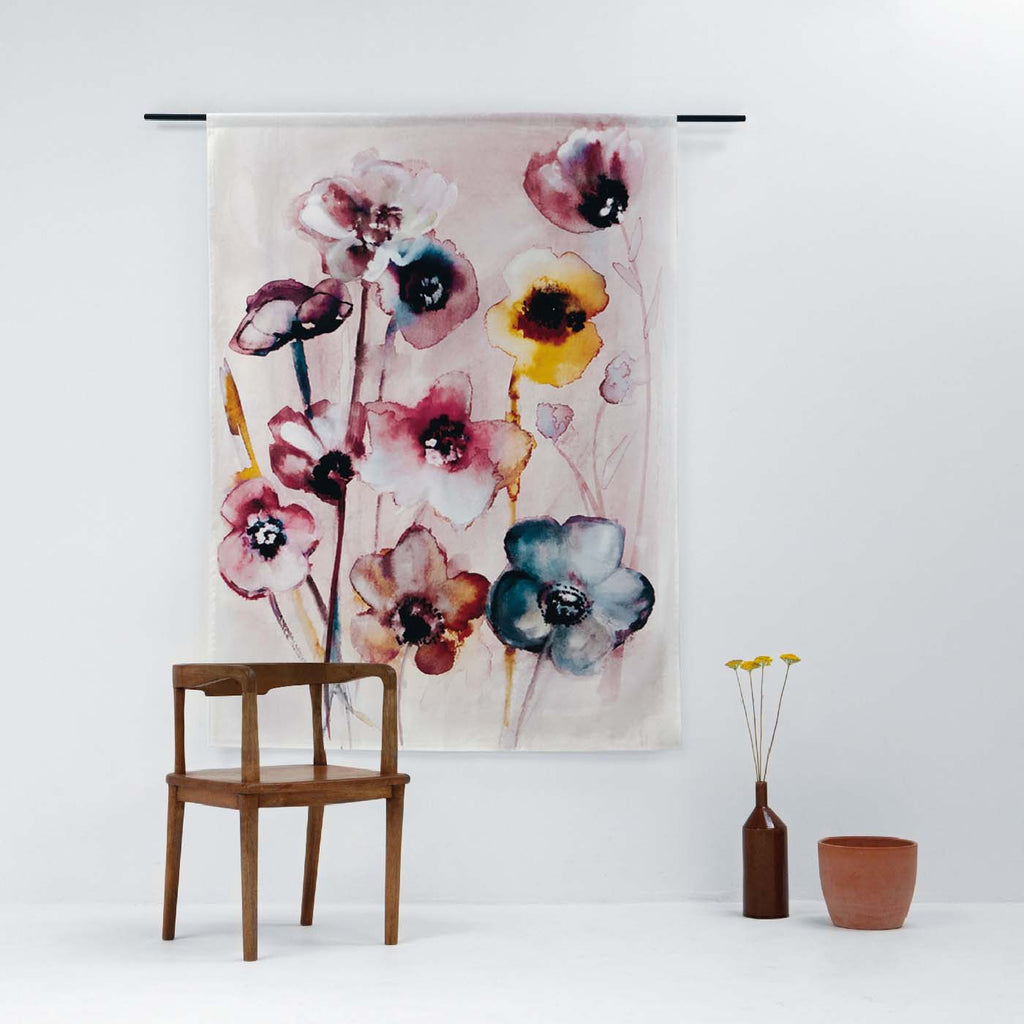 Urban Cotton wandkleed Flowers in Soft Hues - 3 afmetingen