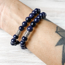 Load image into Gallery viewer, Amethyst and Blue Sandstone Bracelet