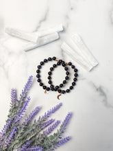 Load image into Gallery viewer, Blue Sandstone and Rose Gold Moon Bracelet