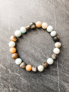 Multicolored Amazonite Bracelet