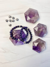 Load image into Gallery viewer, Amethyst Skull Bracelet
