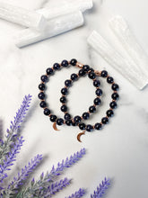 Load image into Gallery viewer, Blue Goldstone Moon Bracelet
