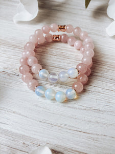 Rose Quartz and Opalite Bracelet