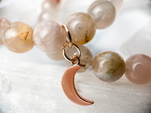 Load image into Gallery viewer, Cherry Blossom Agate Moon Bracelet