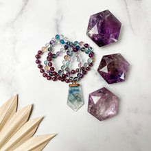 Load image into Gallery viewer, Fluorite and Lepidolite Mala