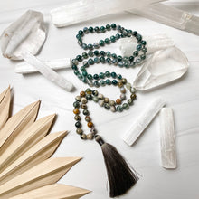 Load image into Gallery viewer, Moss Agate and Ocean Jasper Mala