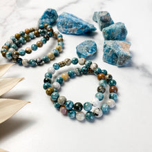 Load image into Gallery viewer, Apatite and Ocean Jasper Bracelet