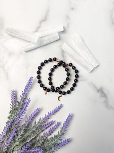 Blue Goldstone Moon Bracelet