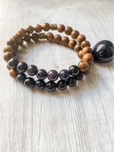 Load image into Gallery viewer, Blue Sandstone and Black Rosewood Bracelet