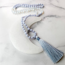 Load image into Gallery viewer, Blue Lace Agate and Opalite Mala