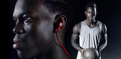 SOUL'S NEW COLOR OF RUN FREE PRO FIRE RED WIRELESS SPORTS HEADPHONES