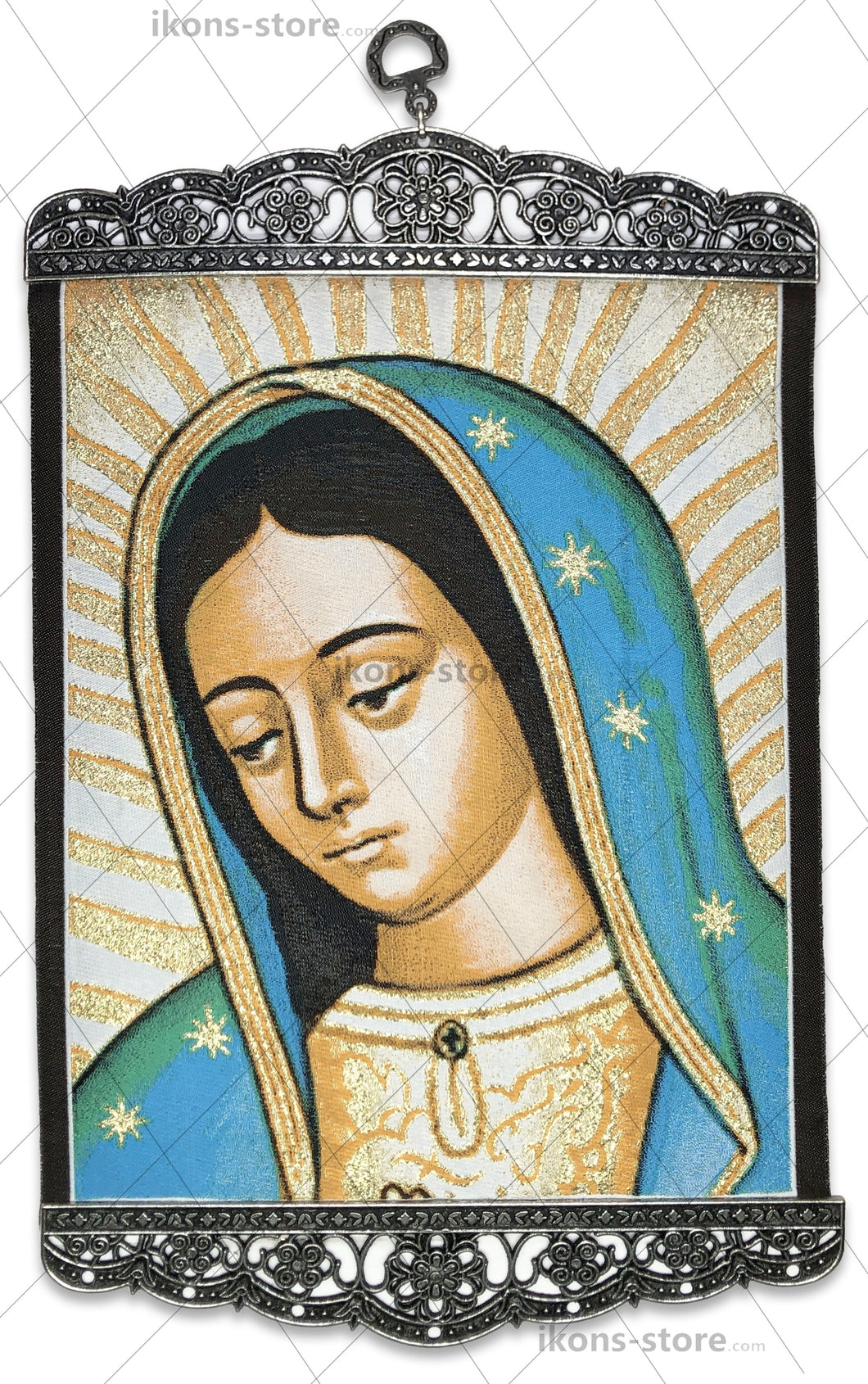Virgin Mary in Blue Drawn Icon-ikons store