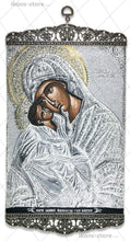 Load image into Gallery viewer, Virgin Mary Eleusa Silver Icon-ikons store