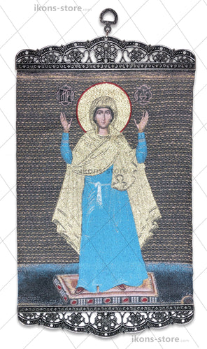 Virgin Mary in Blue Icon-ikons store