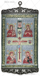 Jesus Christ Crucifixion and Mary Eleusa Icon-ikons store