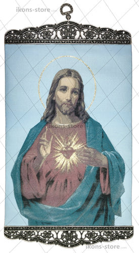 Sacred Heart of Jesus Christ Blue Icon-ikons store