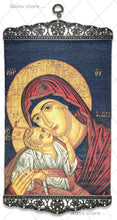 Load image into Gallery viewer, Virgin Mary Eleusa in Blue Icon-ikons store