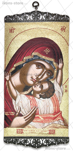 Virgin Mary Eleusa Portrait Icon-ikons store