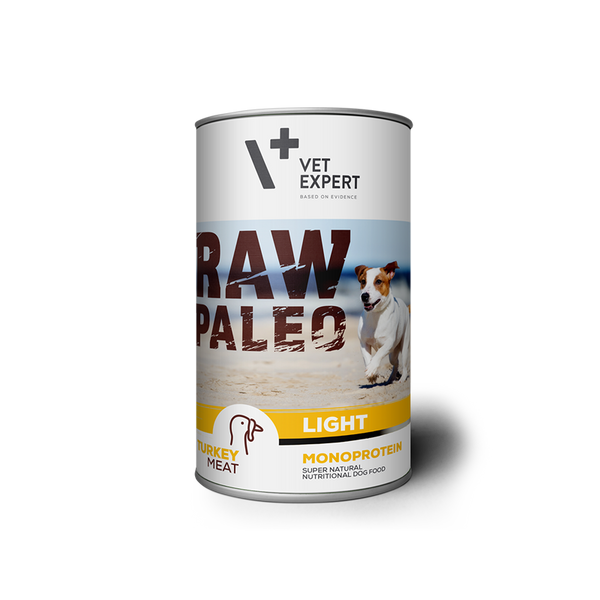 Hundenassfutter – VetExpert Raw Paleo Adult Pute Light 400g