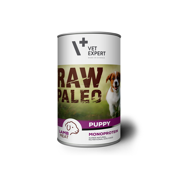 Hundenassfutter – VetExpert Raw Paleo Puppy Lamm 400g