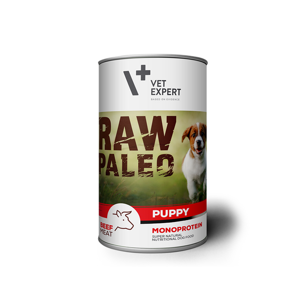 Hundenassfutter – VetExpert Raw Paleo Puppy Rind 400g