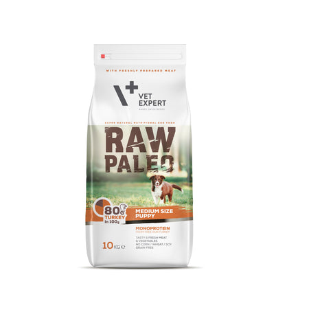 Hundetrockenfutter – VetExpert Raw Paleo Puppy Medium 10kg