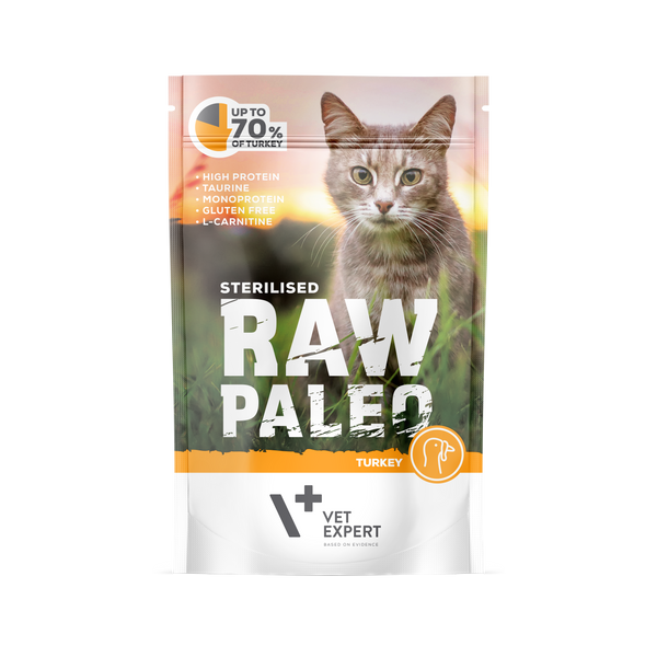 VetExpert Raw Paleo Sterilised Truthahn - Katzenfutter