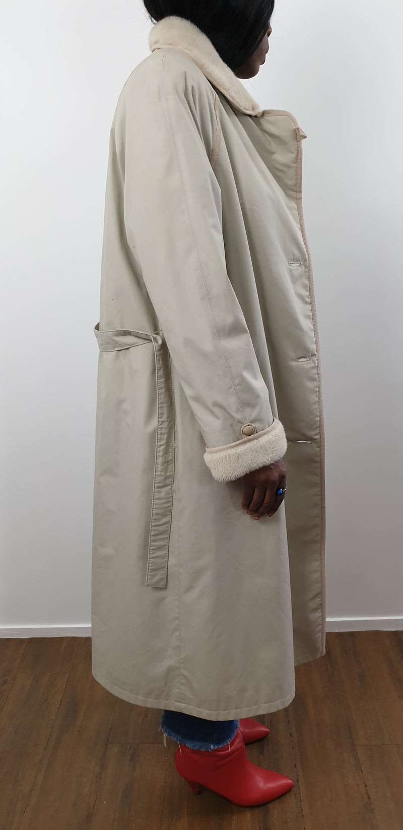 Manteau long blanc - T.F.T Vintage Shop