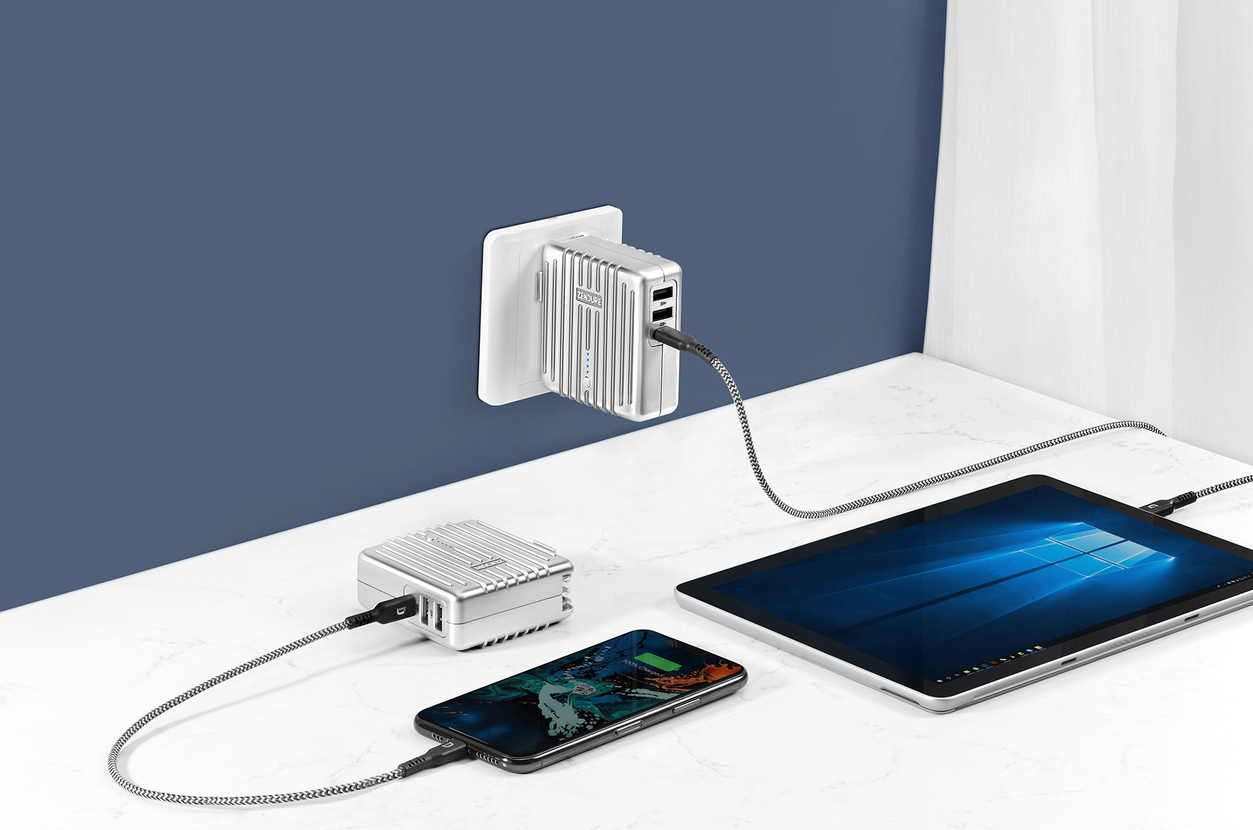 PD wall charger + Portable charger = MIX