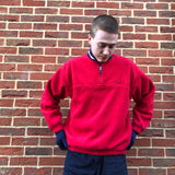 Tommy Hilfiger Quarter Zip Fleece Red