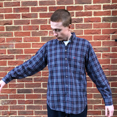 Burberry Navy Blue Nova Check Shirt