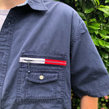 Tommy Jeans Short Sleeve Shirt Logo Zip