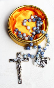 FATIMA ROSARY OF THE CENTENNIAL 1917 - 2017 in box - Stone Beads