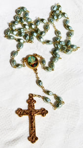 Gold Plated Delicate Fatima Handmade Rosary Beads - Pick Your Color Shade