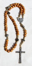 Load image into Gallery viewer, Simple String and Wood Handmade Rosary with Small Hearts