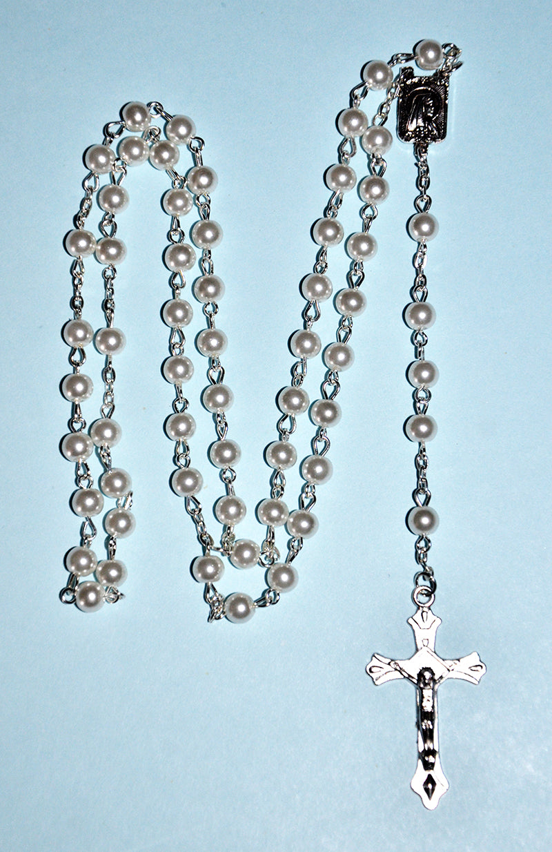 Faux Pearl Rosary Beads
