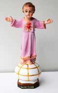 Delightful Child Jesus on Earth Globe, Showing His Sacred Heart