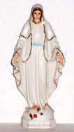 Fair Porcelain Statue of Mary Immaculate, as Queen of Peace
