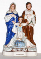 Fair Holy Family of Nazareth, Jesus, Mary and Joseph - Fine Porcelain Statue