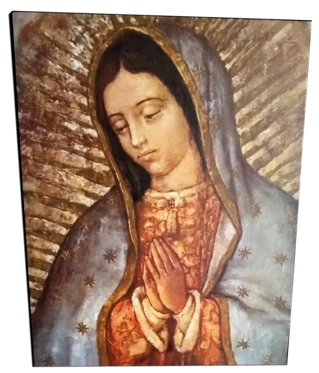 Beautiful Canvas-Like Picture of Our Lady of Guadalupe