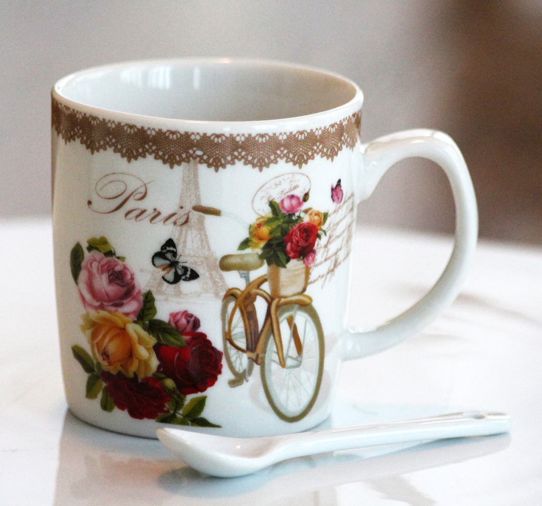 From Paris With Flowers Mug Set - Pick the Flowers!