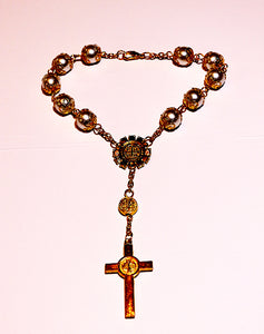 Car Decade Rosary of St Benedict for Protection; also Used as a Bracelet