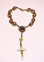 Load image into Gallery viewer, Car Decade Rosary of St Benedict for Protection; also Used as a Bracelet