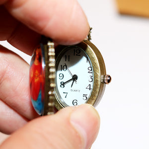 Vintage Oval Religious Pendant Watch