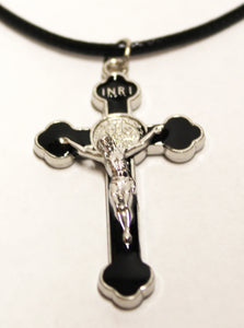 Medium Saint Benedict Cross on Necklace