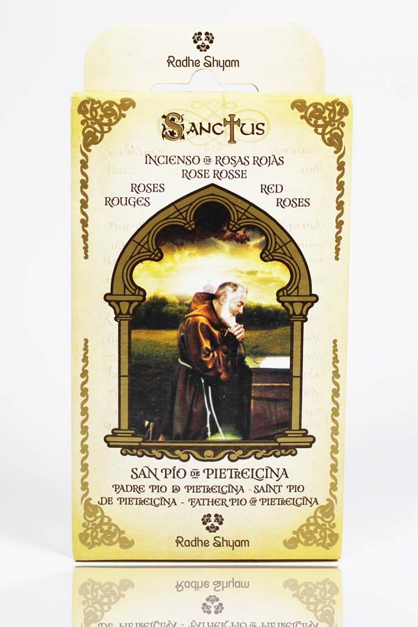 Sanctus Incense Cones: Saint Pio - Red Roses