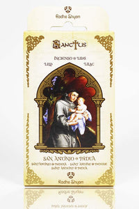 Sanctus Incense Cones: Saint Anthony of Padua - Lilac
